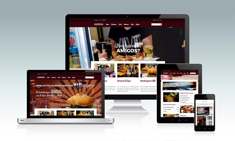 Moesia restaurante Palencia estrena web